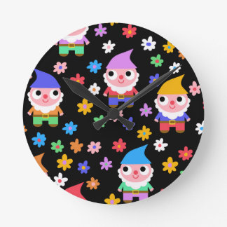 gnomes wall clock
