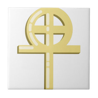 Gnostic Cross Small Square Tile