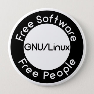 GNU/Linux 10 Cm Round Badge