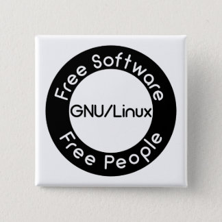 GNU/Linux 15 Cm Square Badge