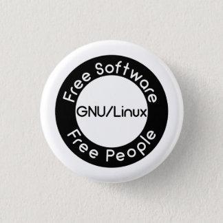 GNU/Linux 3 Cm Round Badge