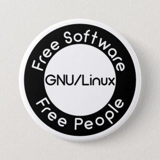 GNU/Linux 7.5 Cm Round Badge