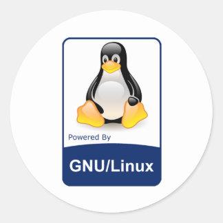 GNU/Linux Round Sticker