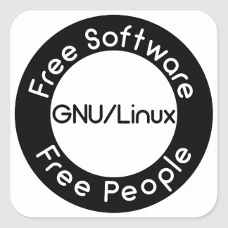 GNU/Linux Square Sticker