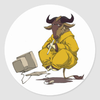 GNU Meditation Levitation Sticker