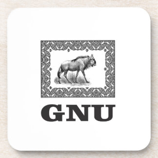 Gnu power art coaster