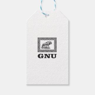 Gnu power art gift tags