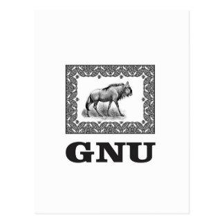 Gnu power art postcard