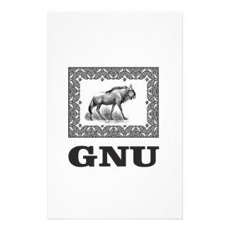 Gnu power art stationery