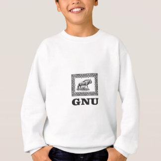 Gnu power art sweatshirt