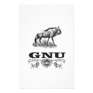 gnu power stationery