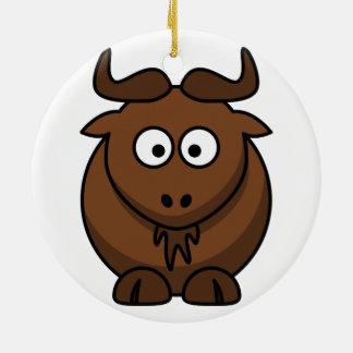 Gnu (Wildebeest) Christmas Ornament