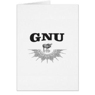 gnu wing card