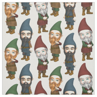 Gnummy Gnomes Pattern Fabric