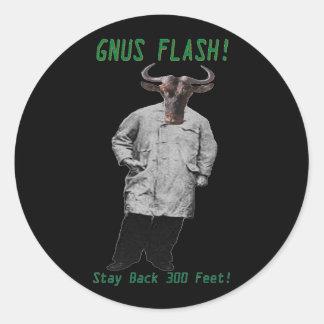 GNUS FLASH-_-Steer Clear of the Left Leaning GNUS Round Sticker