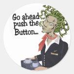 go ahead round stickers