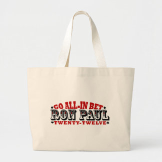 GO ALL IN BET RON PAUL CANVAS BAG