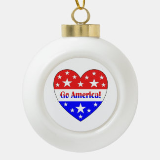 Go America Ceramic Ball Decoration
