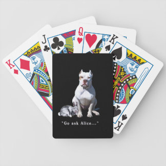 Go ask  Alice - she'll tell you what time it is! Bicycle Playing Cards