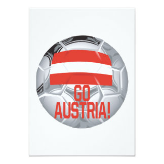 Go Austria 13 Cm X 18 Cm Invitation Card