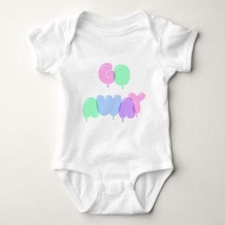 Go Away Bubble Letters Baby Bodysuit