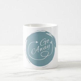 Go Away Funny Typography Modern Arrow Minimalist Basic White Mug
