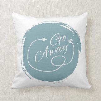 Go Away Funny Typography Modern Arrow Minimalist Cushion
