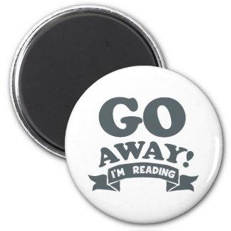 Go Away! I'm Reading Silent Warning Magnet