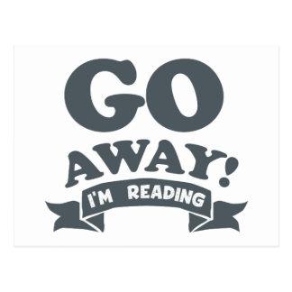 Go Away! I'm Reading Silent Warning Postcard