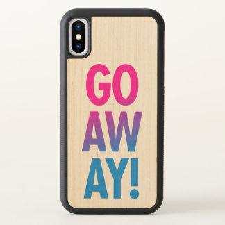 Go Away iPhone X Case