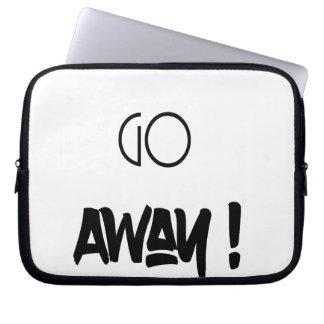 Go Away - laptop sleeve