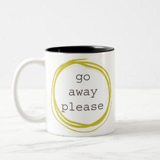 Go Away Please Two-Tone Coffee Mug