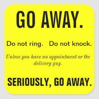 GO AWAY Sticker