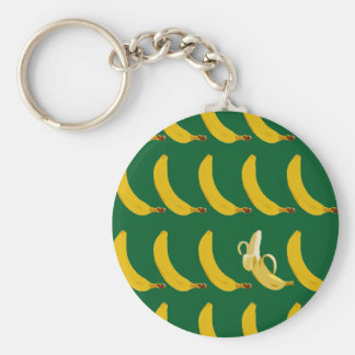 Go Bananas Basic Round Button Key Ring