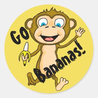 Go Bananas Classic Round Sticker