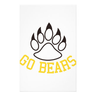 Go Bears Stationery Paper