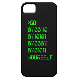 Go Binary Curse Word Yourself iPhone 5/5S Cover