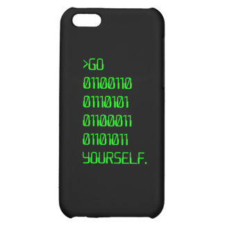 Go Binary Curse Word Yourself iPhone 5C Case