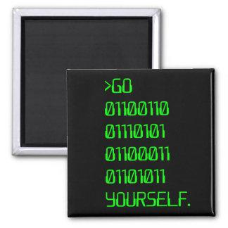 Go Binary Curse Word Yourself Fridge Magnets