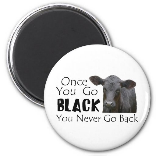 Go Black Angus Refrigerator Magnets