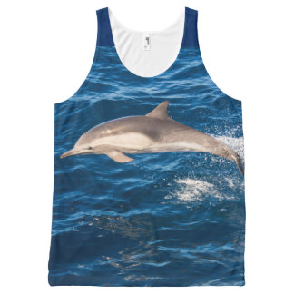 Go Blue for the Dolphins unisex tank top All-Over Print Tank Top