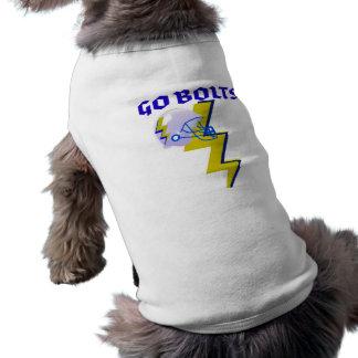 GO BOLTS! GRAPHIC FOOTBALL PRINT DOG T SHIRT
