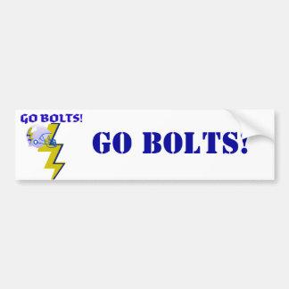 """GO BOLTS"" LIGHTNING BOLT FOOTBALL HELMET PRINT CAR BUMPER STICKER"