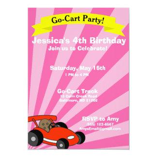 Go-Cart Birthday Party Theme Card