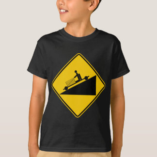 Go Cart Hill Zone Highway Sign T-Shirt