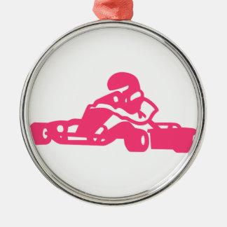 Go Cart Silhouette Metal Ornament