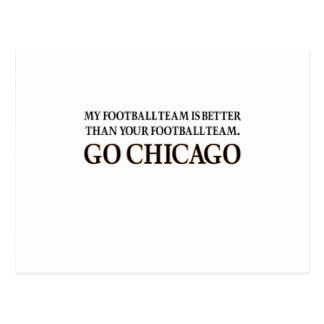 GO CHICAGO (black shuffle) Postcard