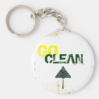go clean basic round button key ring