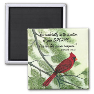 Go Confidently - Bright Red Cardinal Magnet