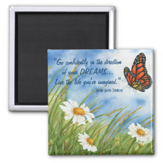Go Confidently... - Monarch Butterfly Magnet